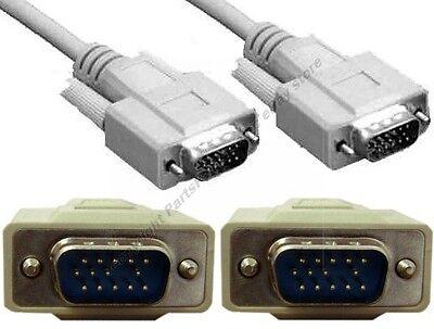50ft long SVGA//VGA Male-Female Extension Monitor//Video//HDTV Cable//Cord{4xShield