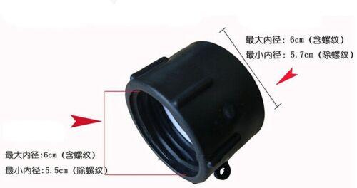 "IBC Tote water Tank Hose DRAIN ADAPTER 2/"" Coarse Thread x 2/"" NPT FEMALE barrels"