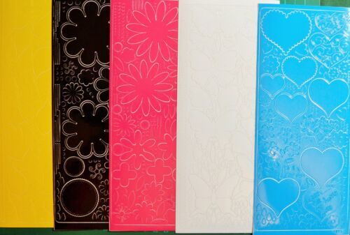 5 Sheets Asst Bright Peel Off//Stickers 98mm x 230mm Flowers /& Hearts NEW