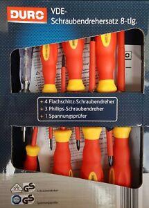 DURO-VDE-Schraubendrehersatz-8-tlg-Schraubendreher-Spannungspruefer