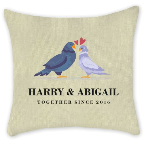 Personalised Pillowcase Cushion Cover Custom Family Couples Home Gift Linen Pers