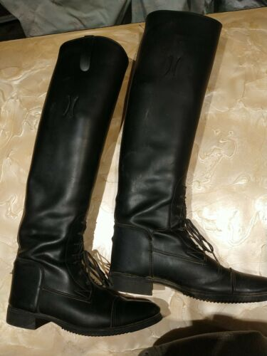 Women Tall Leather boots Equestrian. Size 8