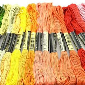 100X-Regenbogen-Stickgarn-Baumwolle-Kreuzstich-Flechten-Craft-Sewing-lot
