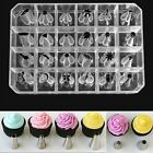 24PCS Icing Piping Nozzles Tips Pastry Cake Cup Sugarcraft Decorating Tool Set