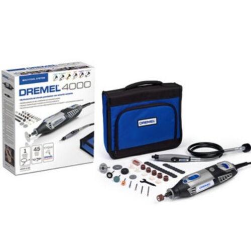Dremel Multi Outil Électrique 4000-45 Perceuse Axe Flexible 45 Accessoires
