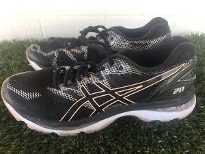 Women s Asics Nimbus 20 Black Pink Running Shoes Size 9.5  d51088566926a
