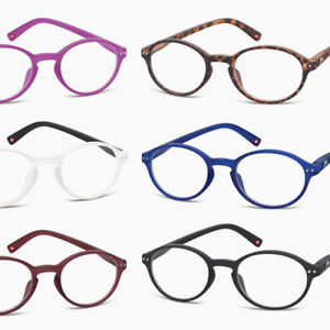 New-READING-GLASSES-Soft-touch-Oval-Round-BLACK-Red-Blue-Brown-1-0-1-5-2-2-50-3
