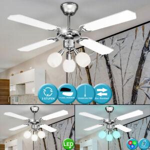 Details About Led Decken Ventilator Zugschalter Wind Kühler Lüfter Rgb Lampe Mit Fernbedienung