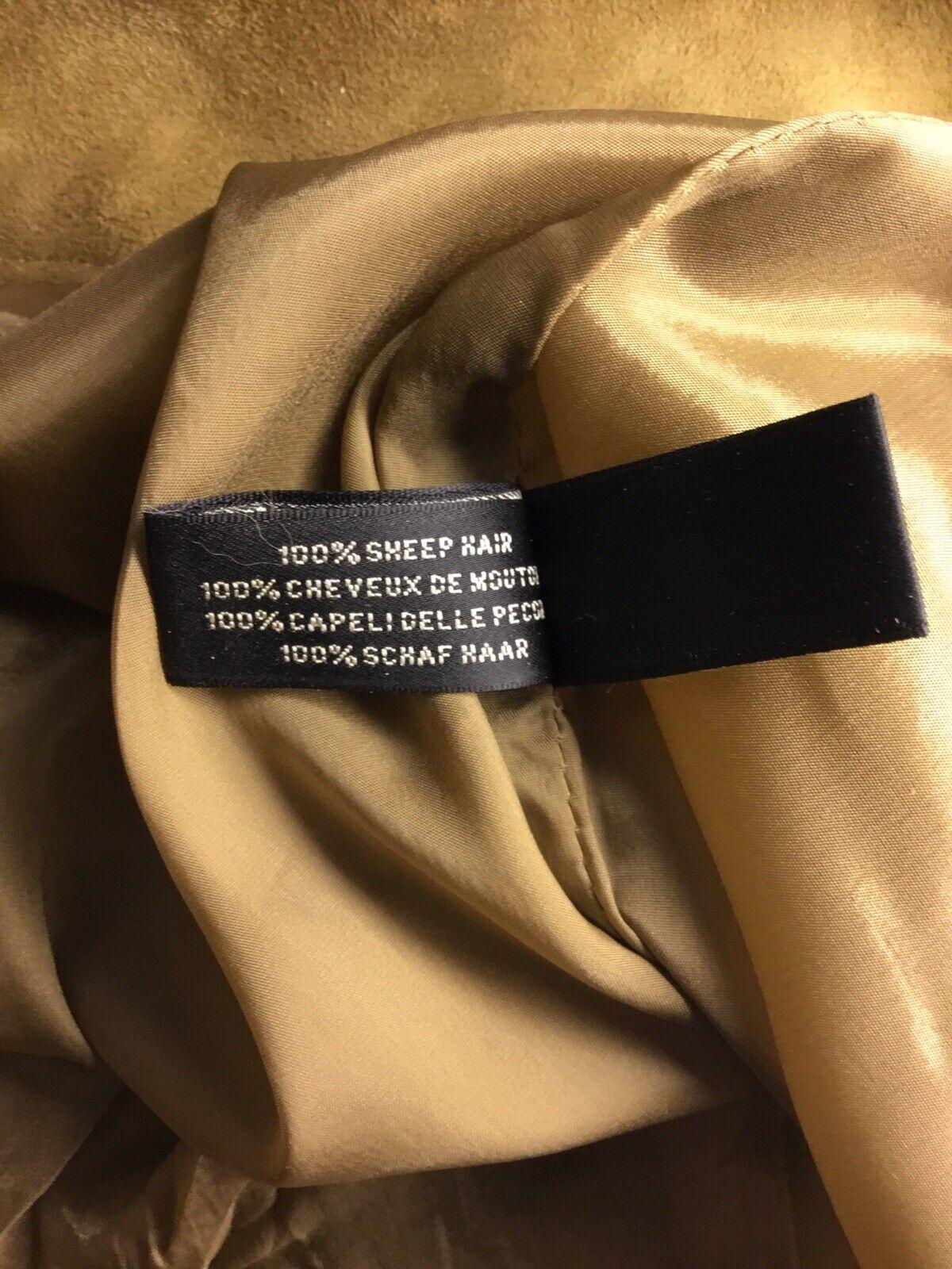 Ralph Lauren Black Label Gold Painted Brown Suede… - image 6