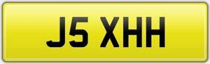 J5-XHH-NEAT-SHORT-5-DIGIT-2X3-CAR-REG-NUMBER-PLATE-INITIALS-JH-JS-JMH-JRH-ETC
