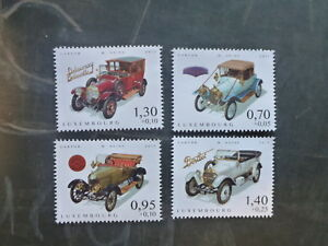 2015-LUXEMBOURG-CARS-OF-YESTERYEAR-SET-4-MINT-STAMPS-MNH