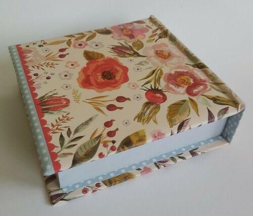 2 x Vintage Blooms jotter block Memo Notes Block Note Block Notebook