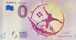 BILLET-0-EURO-BIARRITZ-CITE-DE-L-039-OCEAN-FRANCE-2018-NUMERO-2000