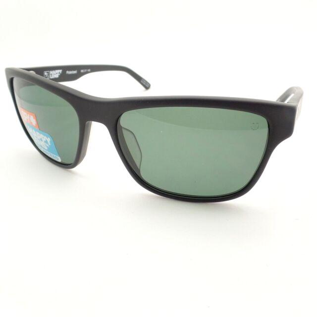 b194f9d4f963 Spy Optics Walde Matte Black Happy Gray Green Polarized New Sunglasses  Authentic
