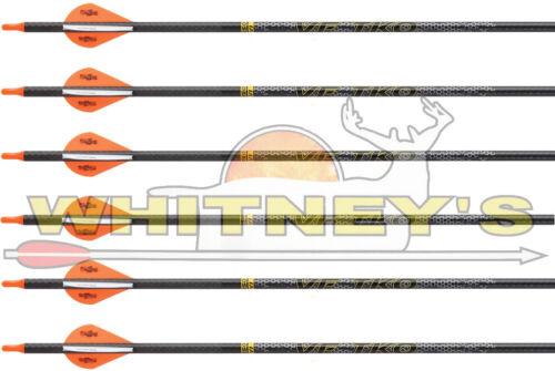 Victory VF TKO 400 Elite 6 Pack Carbon Arrows .001 Straightness 2 in Vanes