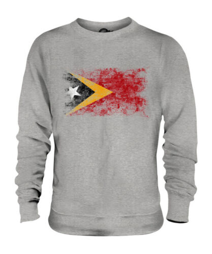 EAST TIMOR DISTRESSED FLAG UNISEX SWEATER TOP TIMOR TIMORESE TIMOR-LESTE
