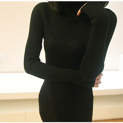 New Women Turtleneck Long Knit Casual Long Sleeve Pullover Outwear Tops Sweater