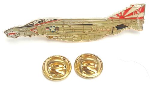 Phantom U.S Navy Aeroplane Side View Enamel Lapel Pin Badge