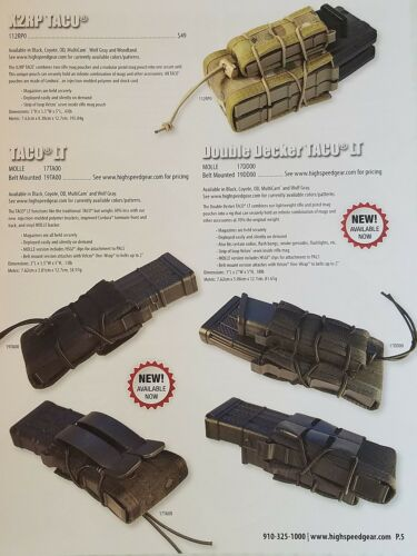 High Speed Gear Battle Proven Tactical Gear 2016 Catalog Booklet NEW 26 Pages