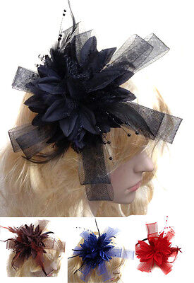Star Shaped Fascinator Mesh Loop Headband Flowers for Weddings Party Ascot Races