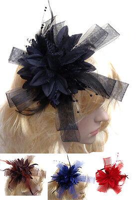 Star Shaped Fascinator Mesh Loop Headband Flowers for Weddings Party Ascot Races