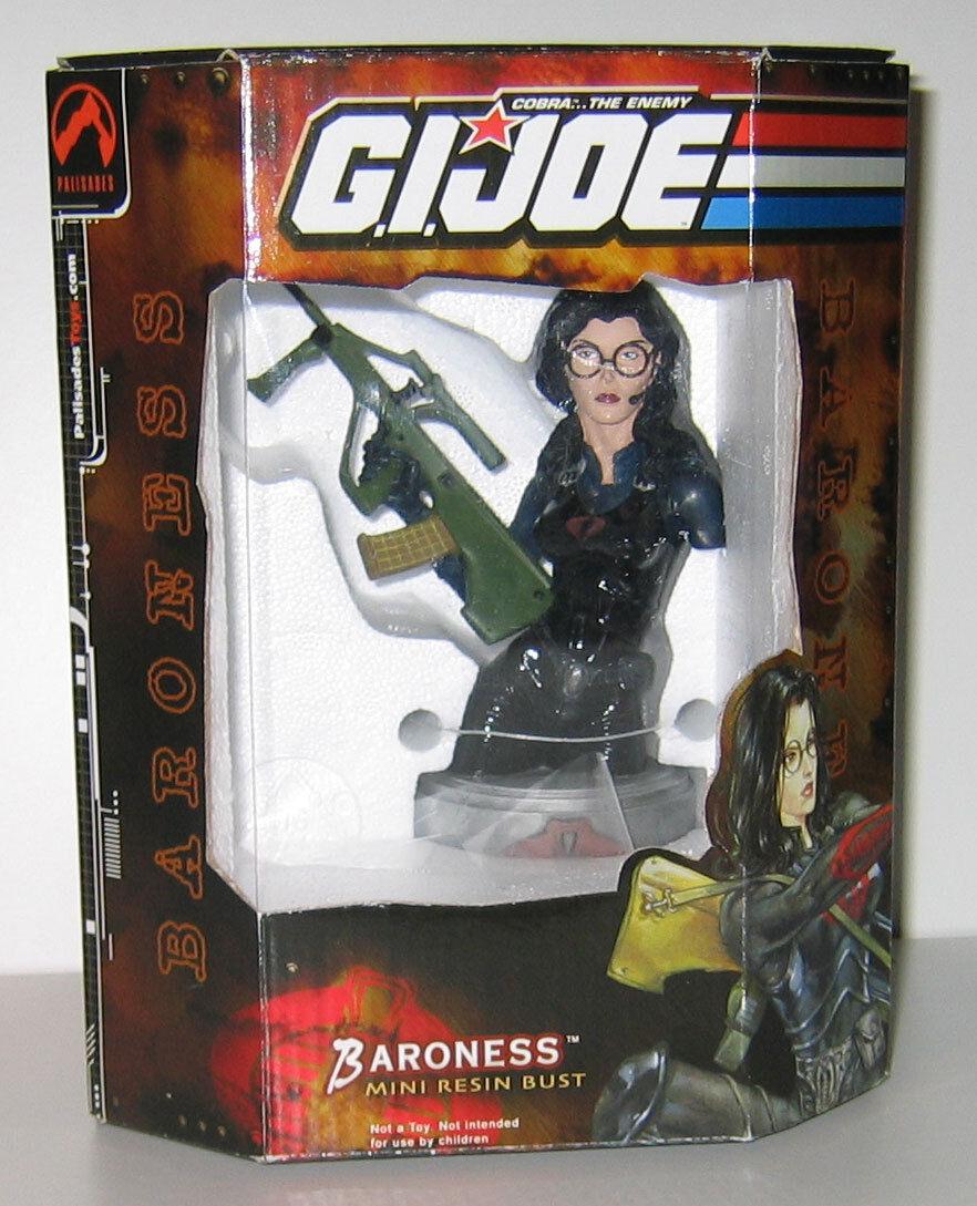 "2002 GI Joe Baroness Mini Resin Bust Un-numberosso ""Promo"" Piece Super Rare MIB"