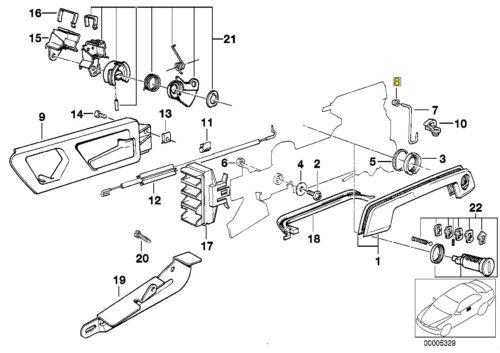 BMW Serratura Rod Lever Pivot BUSSOLA BUSH 1937233 5121 1937233