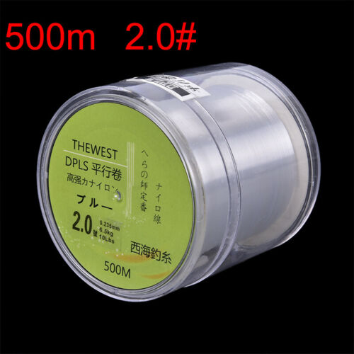 500M Fluorocarbon fishing line 5-30LB Super Main Line clear fly fishing MF