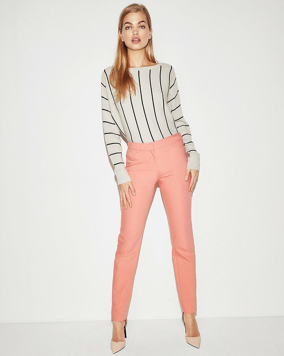 NEW EXPRESS  pinkBUD SLIM MID RISE STRAIGHT LEG COLUMNIST PANTS SZ 8S