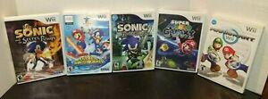 Lot-of-5-Nintendo-Wii-Mario-Galaxy-Kart-Winter-Games-Sonic-Knight-amp-Secret-Rings