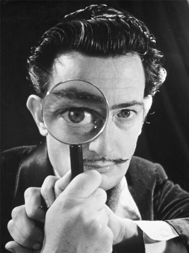 ART PRINT POSTER VINTAGE PHOTO SURREAL SALVADOR DALI MAGNIFIED EYE NOFL0475
