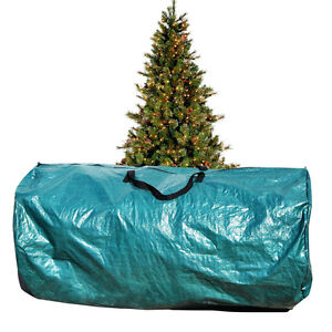 large artificial christmas tree carry storage bag holiday clean up 8 39 green ebay. Black Bedroom Furniture Sets. Home Design Ideas