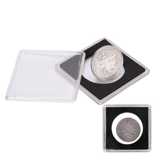 1 Pc Plastic Coin Holder Coin Case Storage Capsule Black 40.5JB