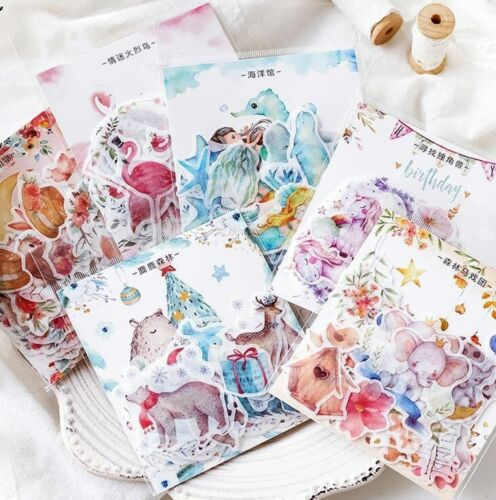 Colorful Forest series Stickers decoration Album Scrapbooking Sticker 45pcs//pack
