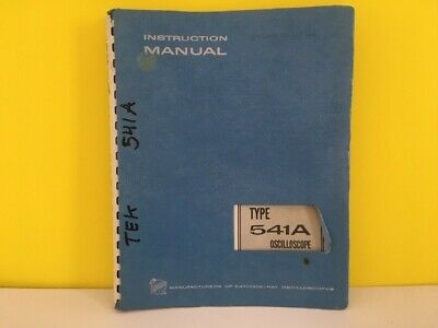 Puntual Tektronix 070-154 Type 541a Oscilloscope Instruction Manual