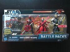 STAR WARS Target Exclus Battle Pack DARTH MAUL RETURNS Savage Opress Nightsister
