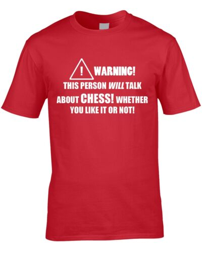 Chess Mens T-Shirt Great Hobby Board Game Strategy Funny Birthday Gift Idea