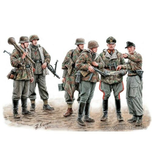 SCALE MODEL KIT LETS STOP THEM HERE GERMAN MILITARY MEN 135 MASTER BOX 35162