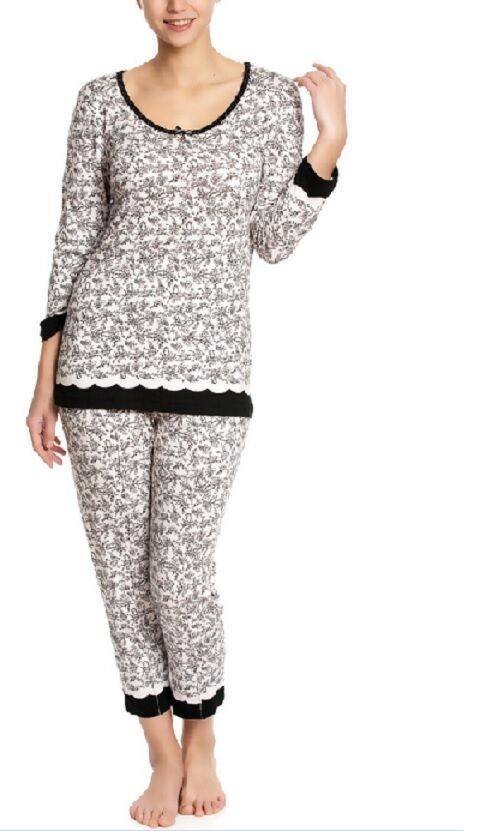 Vive Maria Sleepwear Pajamas Flowers Pants Shirt Snow White Pajamas Off-White