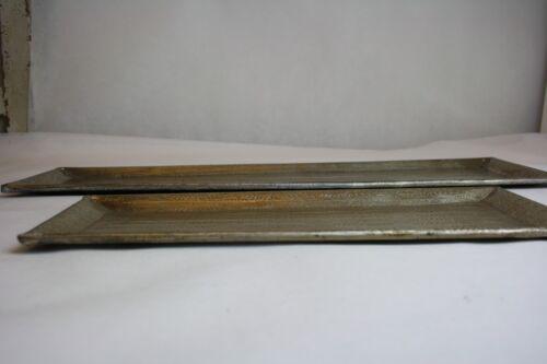 DECO Plateau Aluminium Handmade OR Bougies Plateau 56 cm 36 cm table accessoires