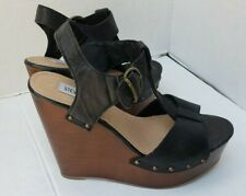 3ddbf1a5582 Steve Madden Womens Wyliee T-strap Platform Wedge Sandal Taupe US 11 ...