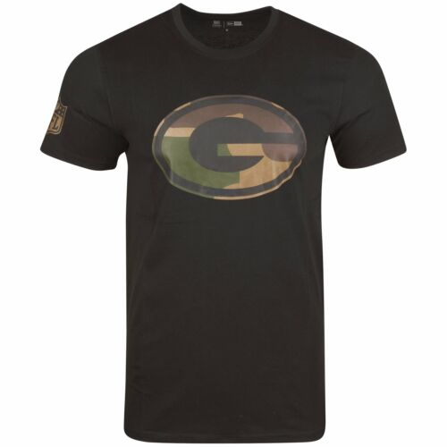 wood camo NFL Green Bay Packers schwarz New Era Shirt