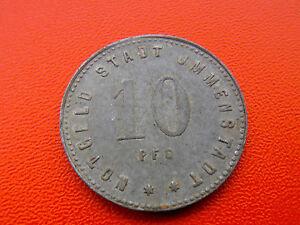 *notgeld Immenstadt 10 Pfennig 1919 * Exquisite (In) Verarbeitung