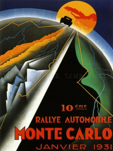 SPORT ADVERT MONACO RALLY MONTE CARLO MOTOR ART POSTER PRINT PICTURE LV7467