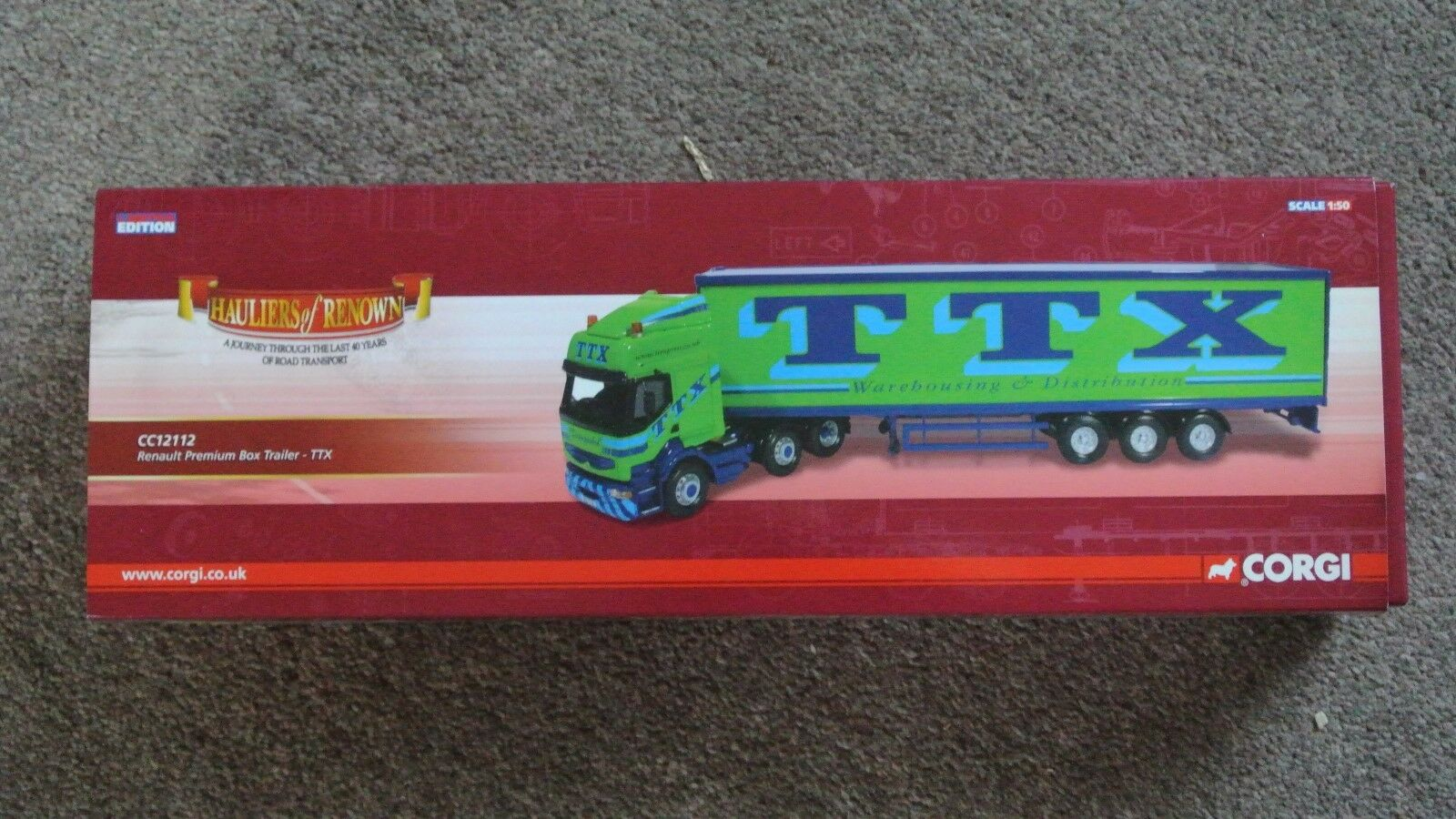 Corgi CC12112 Renault Premium Box Trailer, TTX Warehousing; Excellent+ Boxed NEW