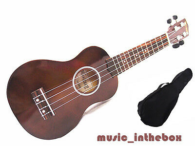 "WOODNOTE/ Good quality Beautiful 21""  Wooden Soprano Ukulele & Free Ukulele Bag"