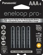 Panasonic Eneloop Pro AAA High Capacity Ni-MH Rechargeable Batteries 4 Pack