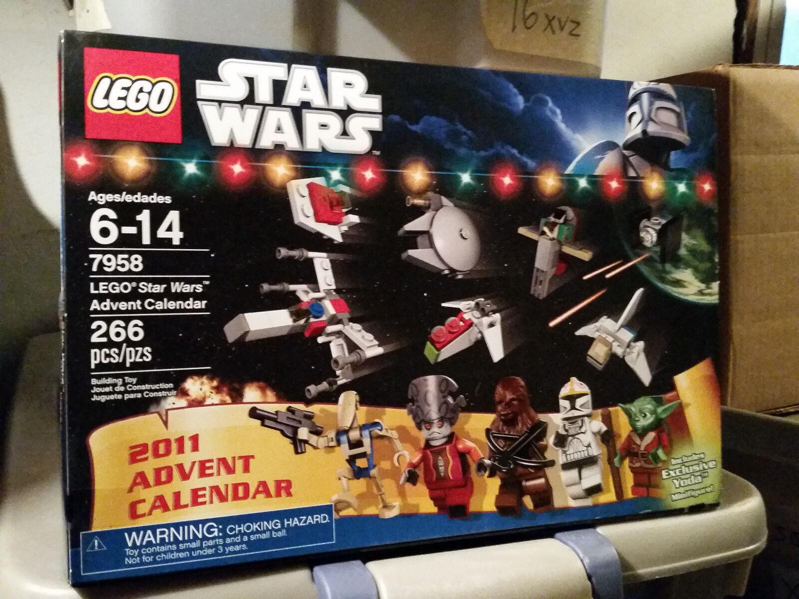 STAR WARS Lego 7958 CHRISTMAS ADVENT CALENDER Minifigure Yoda Pilot Tie
