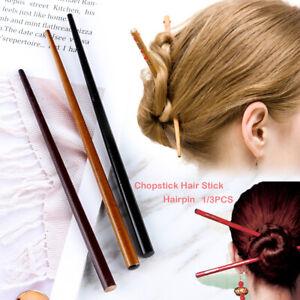 4pcs Wooden Hair Sticks Pointed Hairpin Hair Accessory Hair Chopsticks for Women