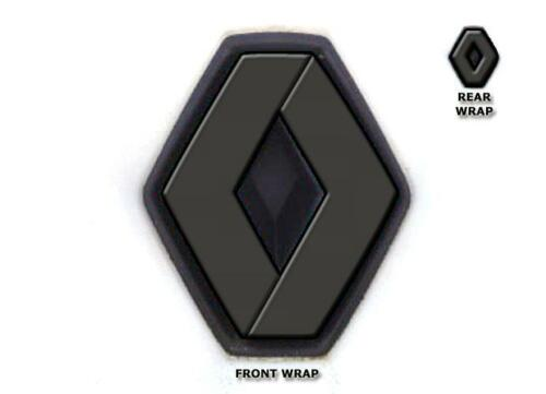 Renault Clio Phase 1 Mk3 Vinyl Overlay Wrap Set Front Rear Grey Covers Badges